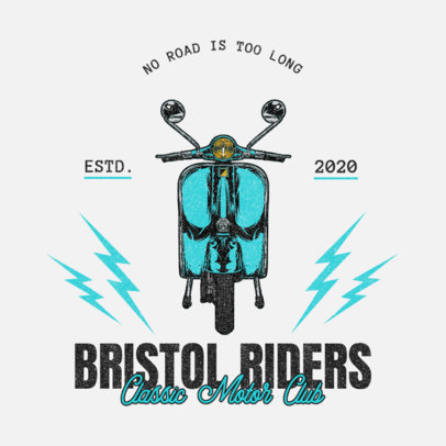Logo Creator with a Slogan for Biker Clubs 3270c-el1