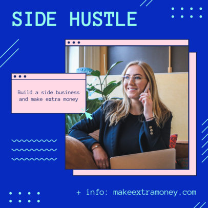 Modern Instagram Post Creator With Info About a Side Business 3235j