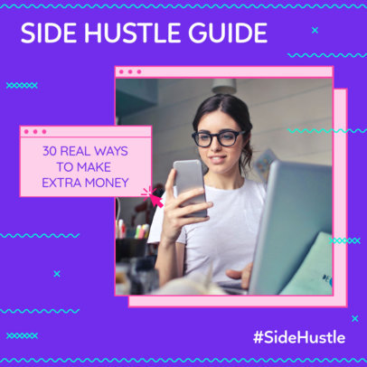 Instagram Post Maker for a Side Hustle Guide 3235d