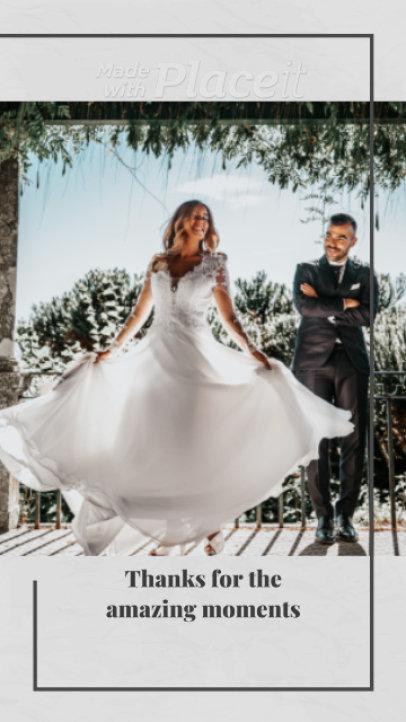 Instagram Story Video Template for Wedding Memories 2582
