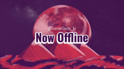 Destiny-Inspired Twitch Offline Banner Maker with Sci-Fi Graphics 3221g
