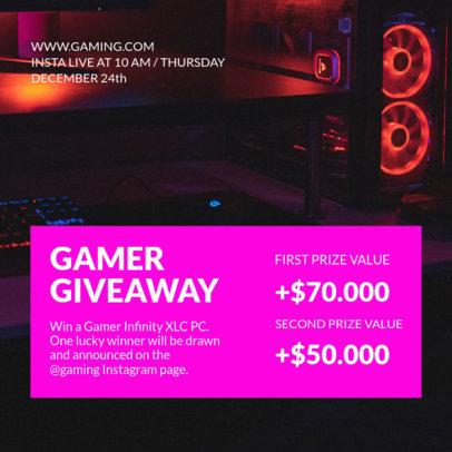 Cool Instagram Post Maker to Promote Gaming Giveaways 3298-el1