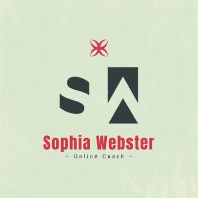 Elegant Logo Maker for an Online Fitness Coach 3935a