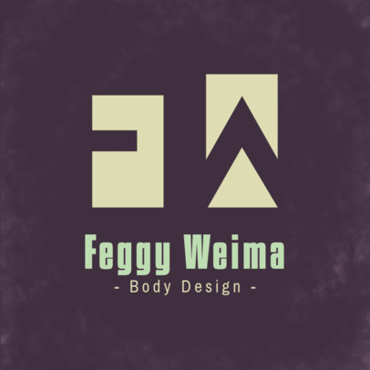 Fitness Coach Logo Maker Featuring a Minimal Style 3935e