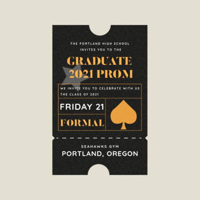 Logo Generator for a Prom Ball Featuring a Carnival Ticket Style 3938f