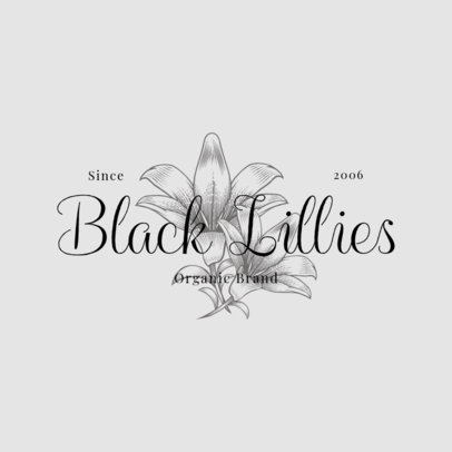 Floral Logo Template for an Organic Brand 3928a