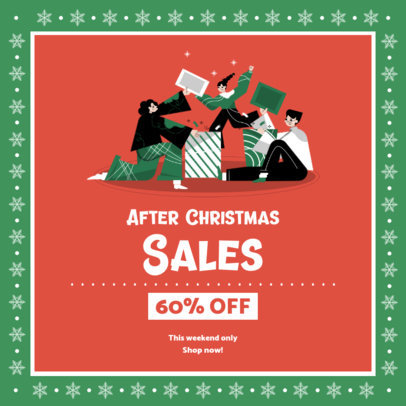 Cool Christmas-Themed Instagram Post Maker for After Christmas Sales 3306a-el1