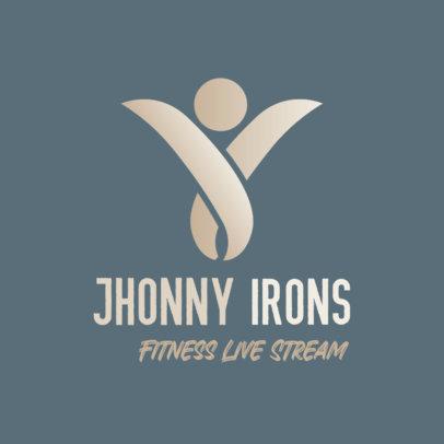 Minimalistic Logo Maker for a Fitness Live Stream 3936b