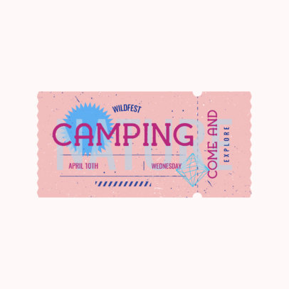 Music Festival Logo Template Featuring a Vintage Circus Ticket Graphic 3937k