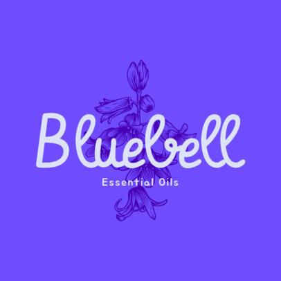 Floral Logo Creator for an Essential Oils Brand 3928k