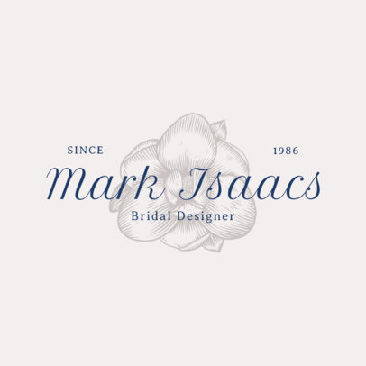 Logo Maker for a Bridal Designer with a White Orchid Graphic 3928p