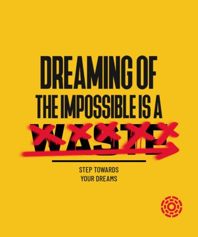 Inspirational Quote T-Shirt Design Maker with Strikethrough Text 3249e