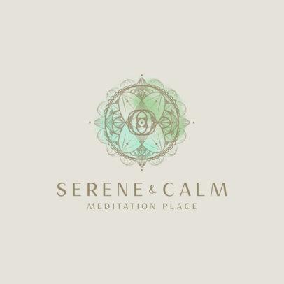 Logo Maker for a Meditation Center Featuring Mandala Graphics 3953