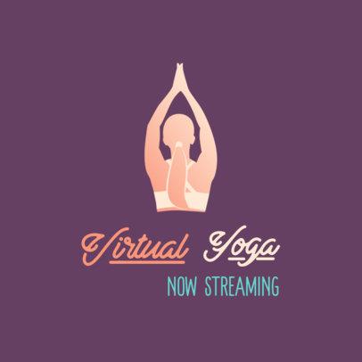 Simple Logo Maker for a Live-Stream of a Yoga Class 3936h