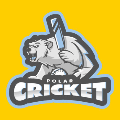 Cricket Logo Maker with Polar Bear Graphics 1649c