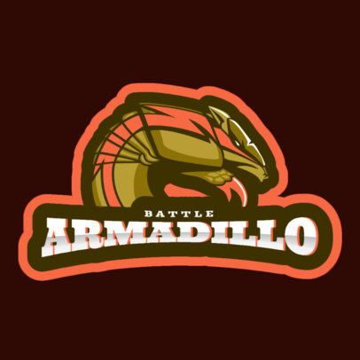 Cricket Team Logo Maker Featuring an Aggressive Armadillo 1649k-2936