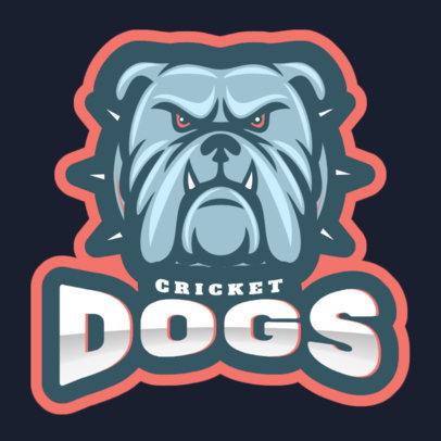 Sports Logo Maker for a Cricket Team with a Dog Graphic 1649r 2964
