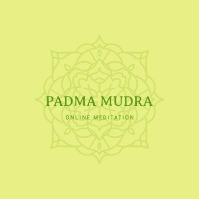 Logo Generator for a Meditation Center with a Mandala Graphic 3954