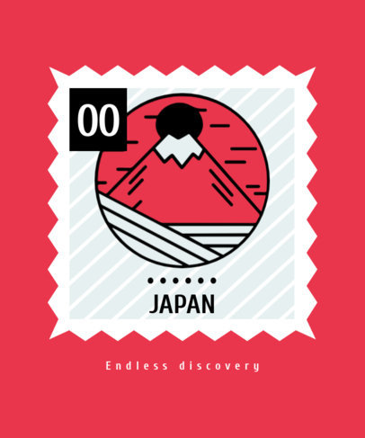 T-Shirt Design Creator with a Mount Fuji Illustration 3327a-el1