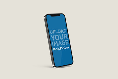 Mockup of an Angled iPhone 12 Pro 5010-el1