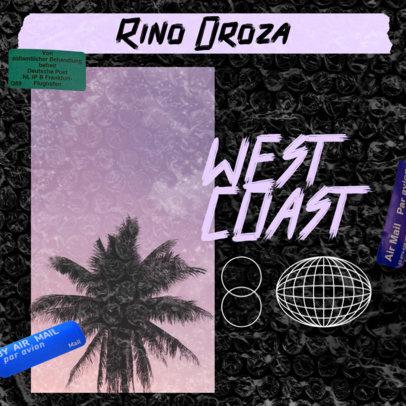 Online Cover Generator for a West Coast Rap Mixtape 3274d
