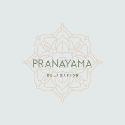 Yoga Studio Logo Template Featuring a Mandala Graphic 3954l