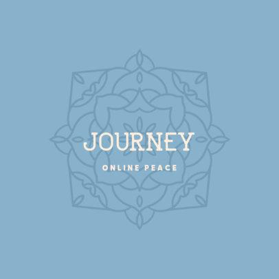 Logo Maker for an Online Meditation Coach Featuring a Mandala Clipart 3954m