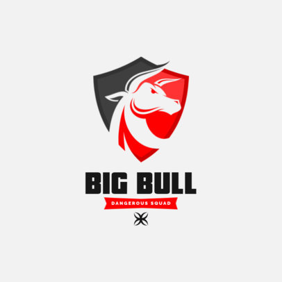 Logo Maker for eSports Teams Featuring a Bull in a Shield 3350b-el1