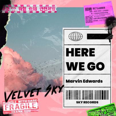 Mixtape Cover Generator for Urban Pop Artists Featuring a Plastic Wrap Texture 3275e