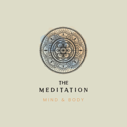 Logo Template for Meditation Channels Featuring a Beautiful Mandala Design 3953d