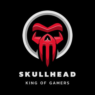 Gaming Logo Template Featuring an Abstract Skull Graphic 3352d-el1