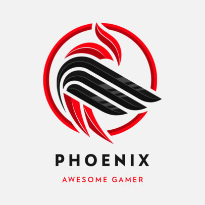 Logo Maker for Professional eSports Players Featuring an Abstract Phoenix Graphic 3352f-el1