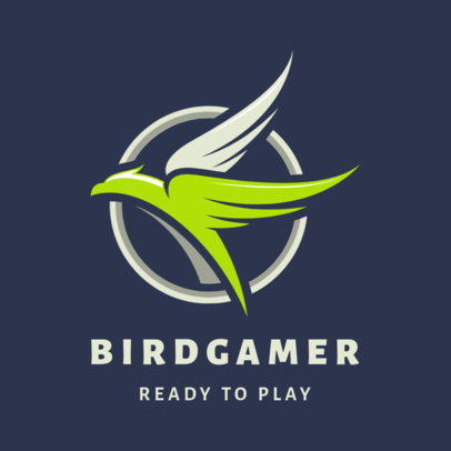 Abstract Logo Generator for Gamers Featuring a Bird Clipart 3352g-el1