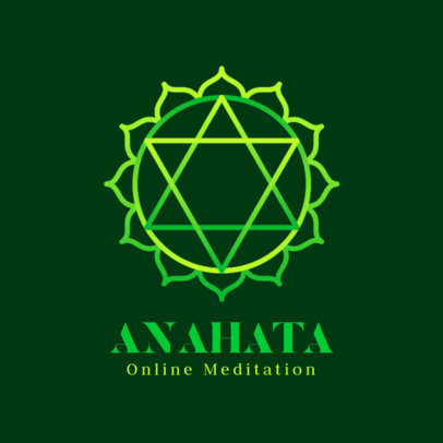 Medidation Center Logo Creator Featuring a Mandala Graphic 3952d