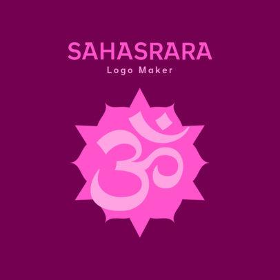 Logo Maker for a Yoga Studio Featuring an Om Symbol 3952g