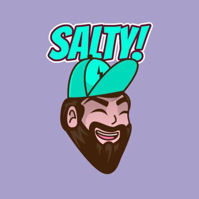 Twitch Emote Logo Creator of a Man with a Beard 3963d