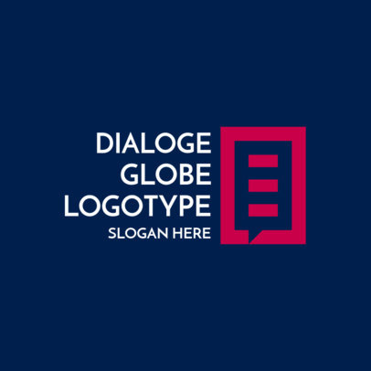 Online Logo Maker Featuring Globe-Style Dialogue Graphics 3969