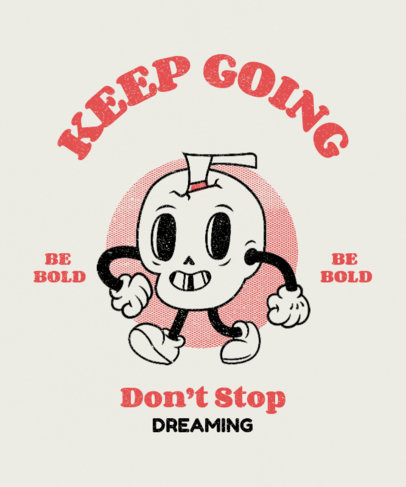 Retro T-Shirt Design Creator Featuring Cartoon Characters and Quotes 3290