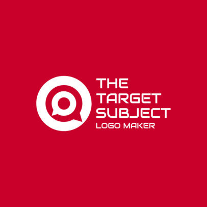 Logo Generator with a Target-Shaped Chat Globe 3969b