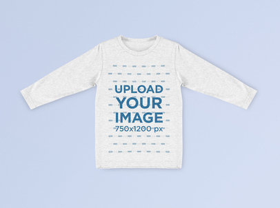 Mockup of a Heather Sweatshirt with Its Sleeves Spread on a Plain Surface 41792-r-el2