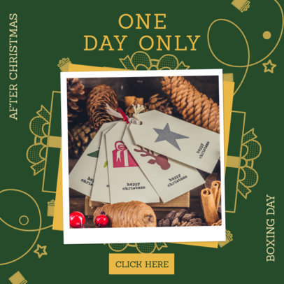 Instagram Post Design Maker for a Boxing Day Sale Announcement 3282b