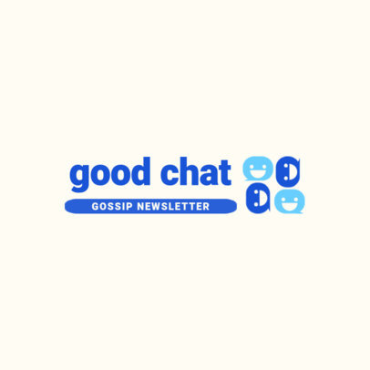 Newsletter Logo Generator Featuring Smiling Chat Globes 3967a