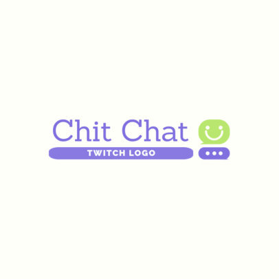 Logo Maker for a Twitch Channel Featuring a Happy Chat Globe 3967c