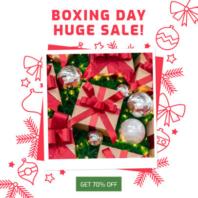 Instagram Post Template to Announce Boxing Day Deals 3282c
