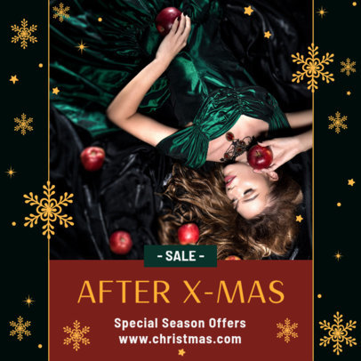 Instagram Post Template for Post-Christmas Sales 3283a