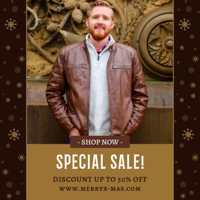 Instagram Post Creator Featuring a Holiday Sale 3283j