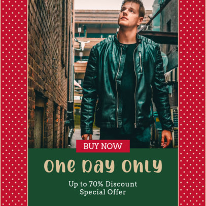 Instagram Post Template for a One-Day-Only Sale 3283e