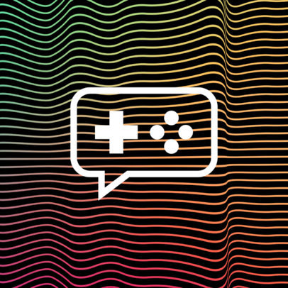 Patreon Profile Picture Design Maker Featuring a Wavy Background Pattern 3400-el1