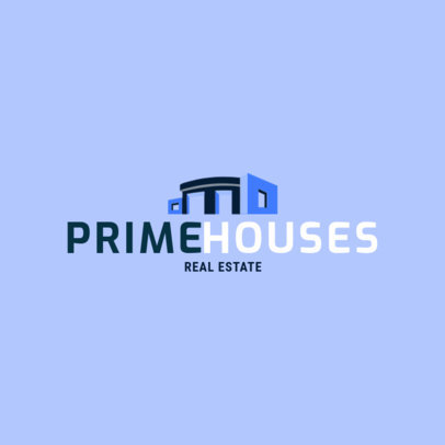 Real Estate Logo Maker with a Modern House Icon 3991D
