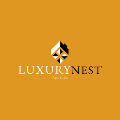 Logo Generator for a Luxury Real Estate Agency with High-Contrast Icons 3991G
